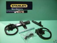 "STANLEY gate/door 6"" ring Latch/catch.BLACK with fixing Screws 83-4120"